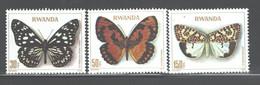 RWANDA 1979  BUTTERFLIES - Schmetterlinge