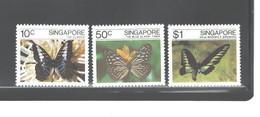 SINGAPORE 1982  BUTTERFLIES - Schmetterlinge