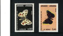 ANDORRE FRANCAISE,1993, BUTTERFLIES - Schmetterlinge
