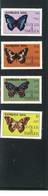 BARBUDA MAIL,1985, BUTTERFLIES #714 - 717 & MS#718 MNH $102.00 - Schmetterlinge