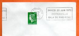 80 BERNAVILLE   PING PONG  1970 Lettre Entière N° UV 513 - Mechanical Postmarks (Advertisement)