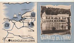 Rare Mini Dépliant Touristique Bagnoles De L'Orne - Toeristische Brochures