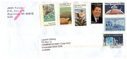 (FF 29) USA Posted To Australia - Many Stamps N Cover (posted During COVID-19 Pandemic) Arrival Date 12-01-2021 - Cartas