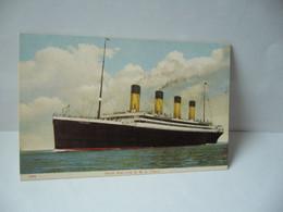 1829. WHITE STAR LINE R.M.S. TITANIC POST CARD - Dampfer