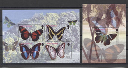 Montserrat Butterflies Mariposas Schmetterlinge 2004 Mi#1234-1237 Bl#100 MNH - Schmetterlinge