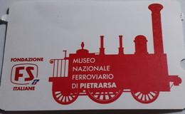 Biglietto D'ingresso Museo Nazionale Ferroviario Di Pietrarsa - Eintrittskarten