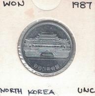 Korea North 1 Won 1987, KM#18 UNC - Korea, North