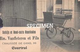 Sulkij Et Road-carts Americains Em. Vanfleteren Et Fils Chaussée De Gand - Kortrijk - Courtrai - Kortrijk
