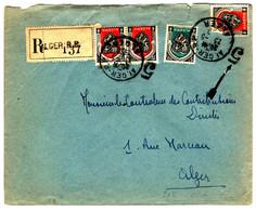 42515 - Recommandée  D'ALGER - Covers & Documents