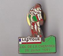 PIN'S THEME SPORTS / CYCLISME TOUR DE FRANCE  26 JUILLET 1991  COL DE LA CHEMINEE  DANS LE DEPT  JURA - Ciclismo