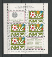 Poland 1974 FIFA World Cup 3rd Place S/S Y.T. BF 66  (0) - Blocks & Sheetlets & Panes