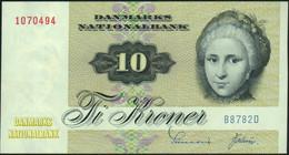 ♛ DENMARK - 10 Kroner 1978 {Danmarks Nationalbank} {sign. Sunesen & Valeur} AU-UNC P.48 H(2) - Denmark