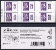 CARNET N° 1656-C2 Daté 18.12.20 / Marianne L'engagée-couverture Blanche / 6ex-20g L'international à 1.50 € / NEUF.... - Definitives