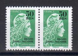 FRANCE 2020/21 / PAIRE N° 5252  Marianne L'engagée-surchargée 50 Ans GRAVES DANS L' HISTOIRE-Lettre Verte / NEUF - 2018-... Marianne L'Engagée