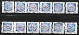 2018 - 212 - 1629 à 1640 Les Flocons De Neige - Oblitéré - Adhesive Stamps