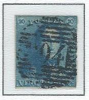 COB  2  Oblitérations Bureaux De Perception  P104 Saint Hubert - 1849 Hombreras