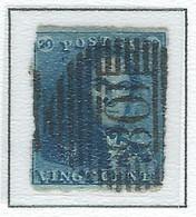 COB  2  Oblitérations Bureaux De Perception  P108 - Soignies - 1849 Hombreras
