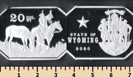 Wyoming 20 Dollars 2020 - Non Classificati