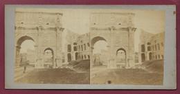230121 - PHOTO VUE STEREO PLAUT Paris Certifié Conforme Au Tirage - ITALIE ROME Arc De Constantin - Stereoscopio