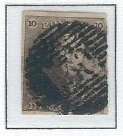COB  1  Oblitérations Bureaux De Perception  P130 - Wavre - 1849 Hombreras