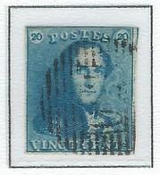 COB  2  Oblitérations Bureaux De Perception  P130 - Wavre - 1849 Hombreras