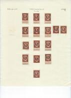Lot TYPO Op PELLENS Cijfer - Leeuw ; Details Zie 3 Scans , ZELDZAME Aanbieding ! LOT 355 - Typos 1912-14 (Lion)