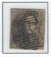 COB  1 Oblitérations Bureaux De Perception  P133 - Ypres - 1849 Hombreras