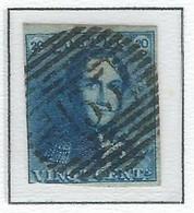 COB  2  Oblitérations Bureaux De Perception  P133 - Ypres - 1849 Hombreras