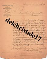 34 0168 ROUJAN HÉRAULT 1898 Chemins De Fer Du Midi 1e Division D'Exploitation Signée Chef De Station ROUJAN à LIQUIÈRE - 1800 – 1899