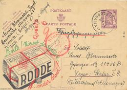 Publibel 462 - Roode Pillen -Vilvoorde 22 X 1940 Naar KG In Stalag IA - Kamp Censuur – Queetz 6 - Werbepostkarten