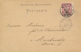 CP - Houilles Et Métaux - METZ 23/6 1886 Vers Montmédy - Ambulant Paris à Epernay 24 Juin 1886 - Elsass-Lothringen