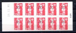RC 19883 ST PIERRE ET MIQUELON COTE 15€ N° C557 CARNET BRIAT COIN DATÉ DU 14.11.91 NEUF ** MNH TB - Cuadernillos/libretas