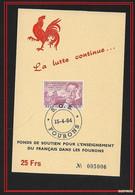 BELGIO / BELGIUM/  -  1964 Wallonia Patriotic Stamp & Propaganda Card - SOS FOURONS N°005006 - Oblitérés