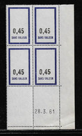FRANCE  ( FFIC - 80 )  1961  N° YVERT ET TELLIER  FICTIF  N° F148   N** - Autres