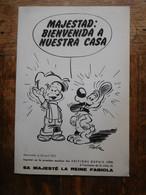Carton Imprimé Dupuis 1975 Boule & Bill / Visite Reine Fabiola / Majestad: Bienvenida A Nuestra Casa - Serigraphies & Lithographies
