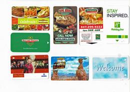 Lot De 8 Cartes Magnétiques - Hôtel - Téléphone - Publicité   (4851) - [3] Magnetic Cards