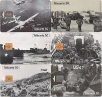 Série De 6 Télécartes : 50ème Anniversaire Des Débarquements Et De La Libération De La France 1944-1994 - 1994