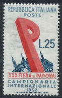 Italie YT 632 Neuf Sans Charnière - XX - MNH - 1946-60: Nieuw/plakker