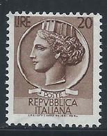 Italie YT 651 Neuf Sans Charnière - XX - MNH - 1946-60: Nieuw/plakker