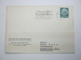 1934 , STUTTGART - Braune Messe, Sonderstempel Auf Karte - Covers & Documents