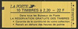 France Carnet 2376 C9A Liberte De Delacroix  Conf 6 - Definitives