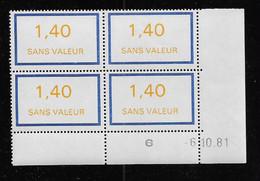 FRANCE  ( FFIC - 118 )  1981  N° YVERT ET TELLIER  FICTIF  N° F227   N** - Autres