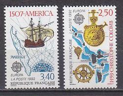 M3748 - FRANCE Yv N°2755/56 ** Europa - 500e Anniversaire De La Dédouverte De L'Amérique Par Christophe Colomb - Unused Stamps