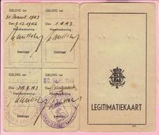 LEGITIMATIEKAART - Willems August Werkzaam Bij Het Stadsbestuur Turnhout 1942 - 1943 - Non Classificati