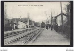 CPA 25 Novillars Arrivée D'un Train En Gare - Otros Municipios