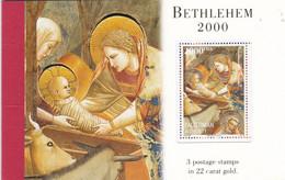 PALESTINE :  Carnet De Prestige De 3 Timbres  Bethlehem 2000  Noël Neuf XX Multicolore Et OR 22 Carats - Palestina
