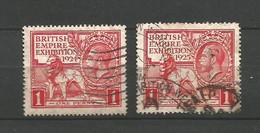 GRANDE BRETAGNE    1924  N°   171  +  173    Obl - Gebraucht