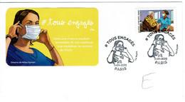 Tous Engagés 2020( De Carnet Autocollant ) Premier Jour Infirmière Maison Retraite - 2010-....