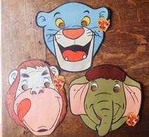 """3 Masques Walt Disney Productions 1967 """"Le Livre De La Jungle"""" & """"Vache Qui Rit"""" - Other"""