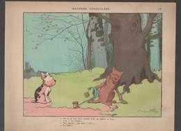 """Gravure  :  Dessin De BENJAMIN RABIER """"mauvaise Conseillère """" Chien  Et Loup   (CAT 2267) - Unclassified"""
